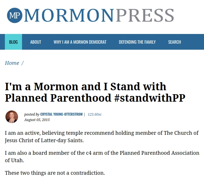 To the Mormon Woman Who #StandswithPP: A 10-Point Response (Part 1)